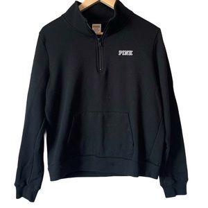 PINK 1/4 zip pullover sweatshirt